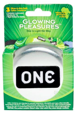 a 3 pack of One Condoms Glowing Pleasures